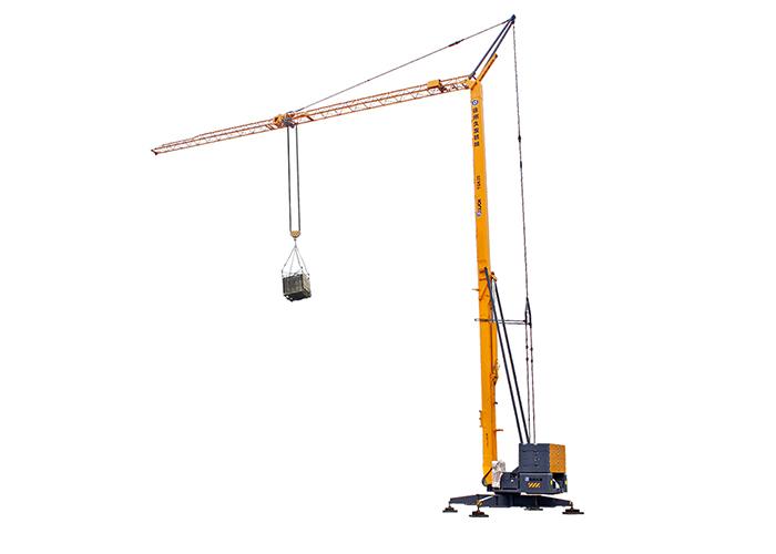 Self erected crane